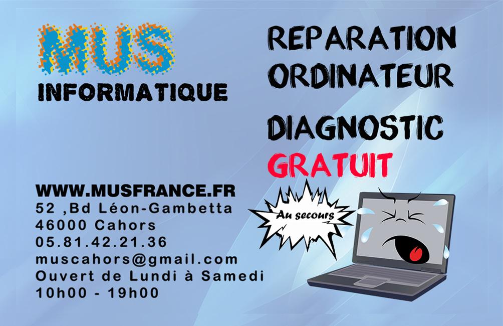 Dépannage Informatique Réparation Ordinateur Téléphone: MUS Informatique Cahors, Spécialiste De La Réparation D